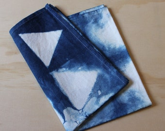Shibori Dyed Tea Towel - Linen / Cotton (75/25) (1)