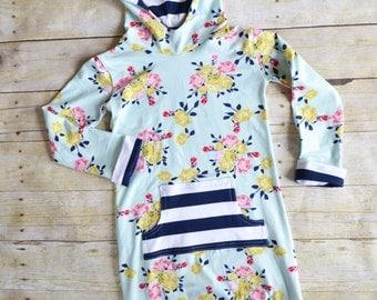 Girls Fall Dress, Toddler Girls Dresses, Hoodie Dress, Little Girls Dresses, Long Sleeves, Sweatshirt Dress, Toddler Girl Gift, Knit Dress