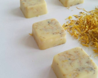 Calendula Bath Melts | Cocoa Shea Butter Bath Melt | Shower Melt | Bath Oil | Organic | Party Favor | Birthday Gift | Lavender Essential Oil