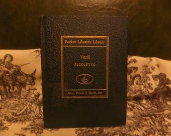 Pocket Libretto Library Verdi La Traviata Opera by Giuseppe Verdi 1948