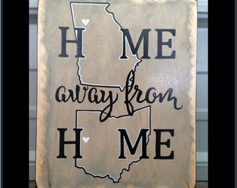 """Home Away From Home Sign 
