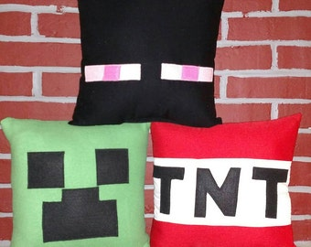 Gaming Inspired by Minecraft Pillow Trio