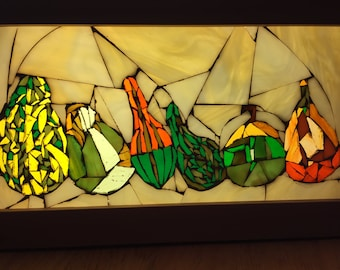 Stained Glass Mosaic Gourds