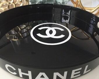 Chanel inspired acrylic tray