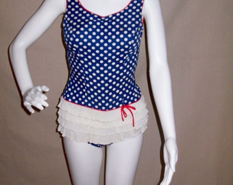 Vintage Polka Dot Bathing Suit