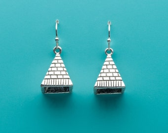 Pyramid Earrings, Pyramid Earrings, Egyptian Earrings, Dangle Earrings, Gifts for Her, 783