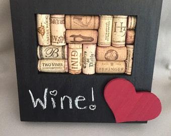 Wine cork board and chalkboard 6x4in frame
