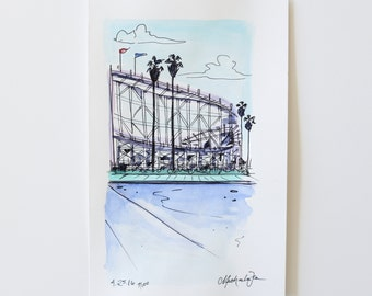 small sketch of Belmont Park San Diego