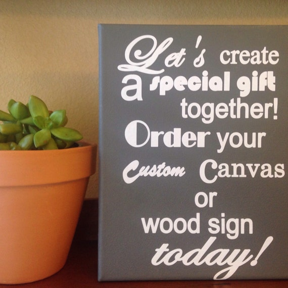Custom Signs Wall Decor Home Decor Canvas Signs Gifts For