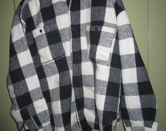 Black and white checkered shirt