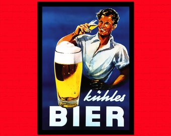 Beer Poster - Beer Print Kitchen Kitchen Decor Food Poster Kitchen Decor Food Print   Reproductiont