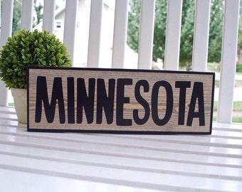 Minnesota wood sign.  Home sweet home, Minnesota, wall decor, wall hangings, wood signs, housewarming gift, state sign, home sign.