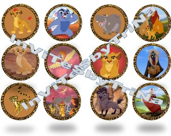Lion Guard Cupcake Toppers-Set of 12!!