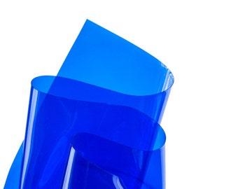 Blue transparent vinyl