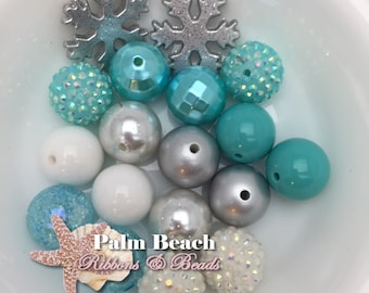 DIY Frozen Elsa Aqua and Silver Necklace and/or Bracelet Bead