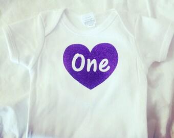 Turning one Baby onesie\\ custom onesie \\ first birthday onesie