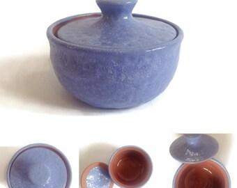 Ceramic Sugar Bowl / Handmade Pottery / Light Blue