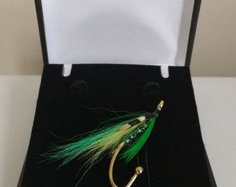 Scottish Hebridean Fly Fishing Brooch / Fishers Pin / Wedding Favours Like Ted Baker