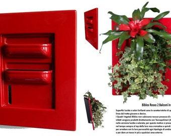 Planter for Vegetable Framework BIBLOS - RED - 2 Balconies