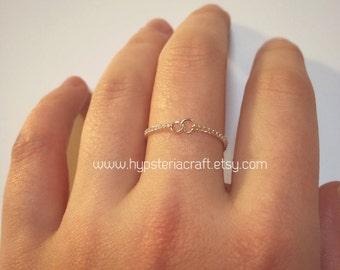 Thin Circle Ring, simple ring, infinity circle ring, infinity ring, silver infinity ring, minimalist ring, delicate ring, silver ring