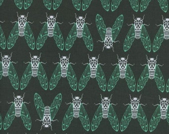 Raindrop by Cotton + Steel - Cicada Song Forest - Cotton Woven Fabric