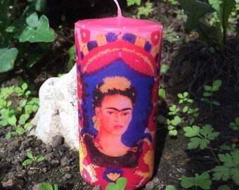 Frida Kahlo Self Portrait - The Frame Candle