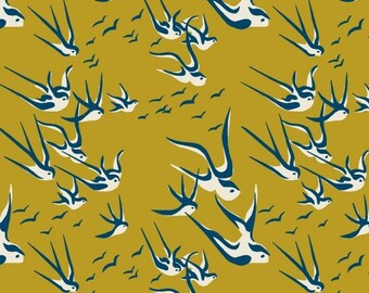 Bird Print Jersey Knit Fabric, Extra Wide - Half Metre