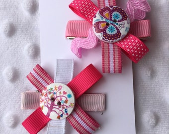 Girl's hair clips / barrettes