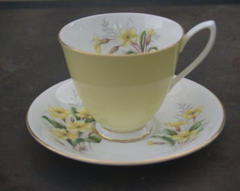 Royal Albert Bone China Cup & Saucer - Yellow