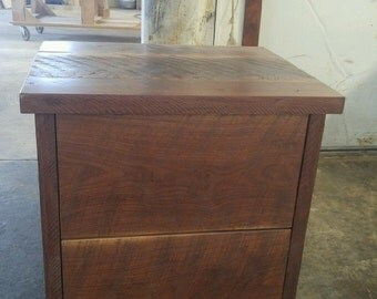 Nightstand - Walnut with clear finish