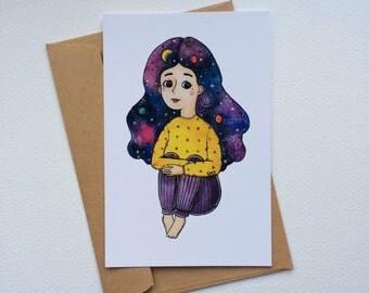 Cosmic girl (postcards)