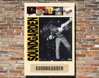 SOUNDGARDEN, Soundgarden 13x19 Print, Soundgarden Album Art, Soundgarden Print, Soundgarden Wall Art, Soundgarden Poster, Instagram, Rock