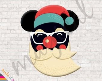 Santa Mickey Mouse / Christmas Disney Iron On / Christmas Mickey Mouse Shirt / Christmas Disney Shirt / Mickey Mouse Santa
