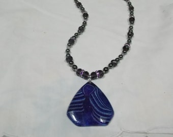 Beaded necklace,hand made,one of a kind Geode Agate