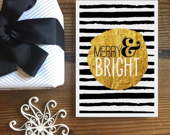 Merry & Bright Christmas Greeting Card