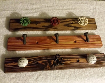 aged wood wall hangers