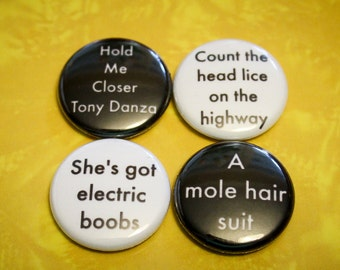 E.J. Misheard Lyrics Pack  - 1 inch Pin Back Buttons or Magnets