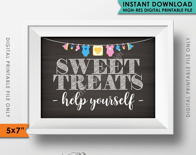 "Sweet Treats Sign, Take a Treat Sign, Babies are Sweet, Baby Shower Decorations, Baby Shower Sign, 5x7"" Instant Download Digital Printable"