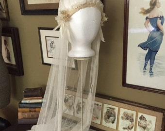 1920's Juliet Cap Wedding Veil
