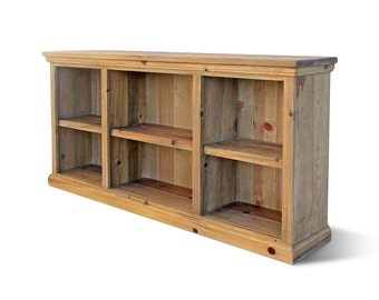 Bookcase, Bookshelves, Reclaimed Wood, Console Table, Rustic