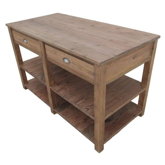 table kitchen island reclaimed wood wood table kitchen
