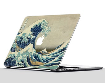 Macbook Air Sticker, Great Wave off Kanazawa, Macbook Skin, Macbook Pro Skin, Great Wave Decal, Macbook Pro Decal, Macbook Sticker