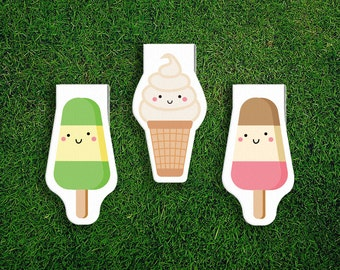 Magnetic Bookmark | Ice cream Popsicle, Soft Serve, Icy Pole, Summer, Sweets, Magnet