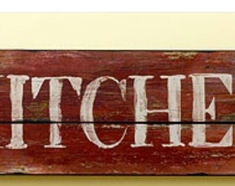 Kitchen sign rustic