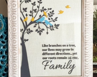SVG family tree birds family quote digital file PNG EPS