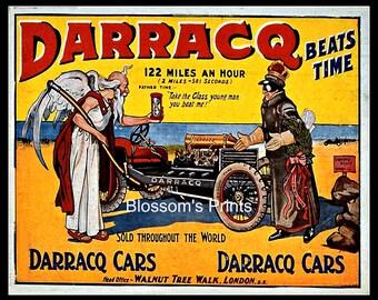 Darracq Beats Time Advertising, Darracq Cars, London