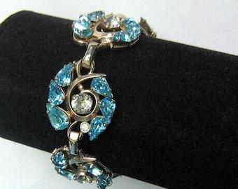 Barclay Brilliant Blue Rhinestone Bracelet