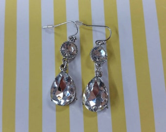 Drop crystal earring lenth 3.5cm