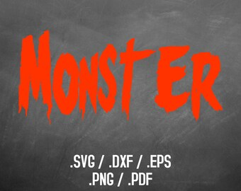 Halloween Monster Font Design Files For Use With Your Silhouette Studio Software, DXF Files, SVG Font, EPS Files, Svg Fonts, Silhouette Font