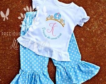 Baby Girl, Toddler Girls, Girls Personalized Custom Monogrammed Princess Carriage Tiara Size 6m, 12m,18m, 2t, 3t, 4t, 5t, 6